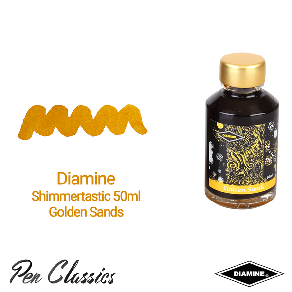 Diamine Shimmertastic Golden Sands 50ml