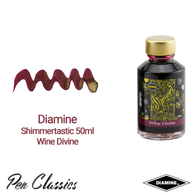 Diamine Shimmertastic 50ml Wine Divine Ink