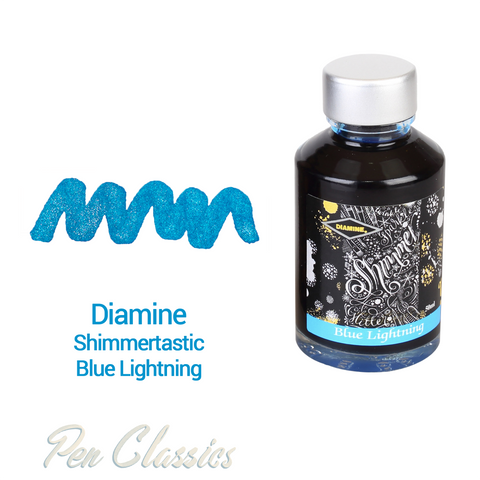 Diamine Shimmertastic Blue Lightning 50ml