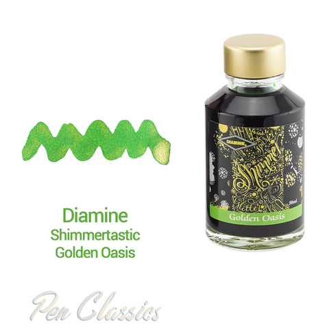 Diamine Shimmertastic Golden Oasis 50ml