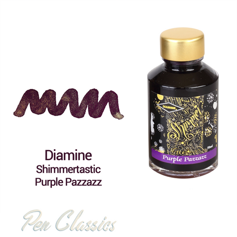 Diamine Shimmertastic Purple Pazzazz 50ml