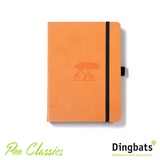 Dingbats Earth Tangerine Serengeti A5 Dot Grid Closed Notebook Cover