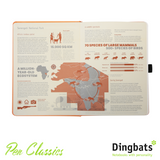 Dingbats Earth Tangerine Serengeti A5 Dot Grid Infographic