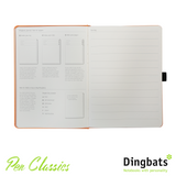 Dingbats Earth Tangerine Serengeti A5 Dot Grid Tab Key Journaling System