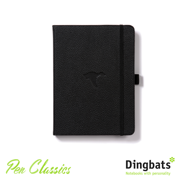 Dingbats Wildlife Black Duck A5 Dot Grid Closed Notebook Cover