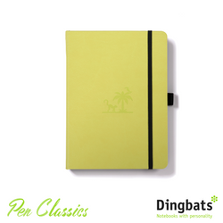 Dingbats Yasuni Lime A5 Dot Grid Closed Notebook
