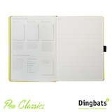 Dingbats Yasuni Lime A5 Dot Grid Tab Key Journal System