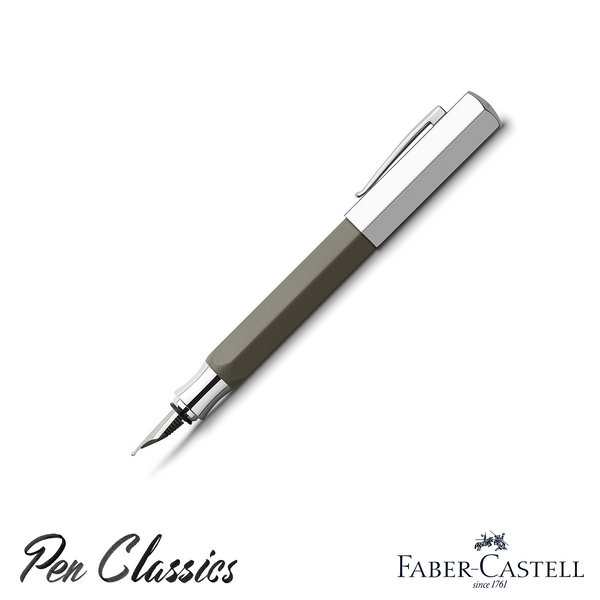 Faber-Castell Ondoro Greybrown Fountain Pen Posted