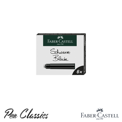 Faber-Castell Black 6 Pack Cartridges