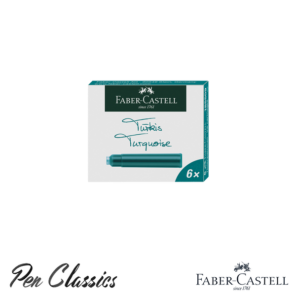 Faber-Castell Turquoise 6 Pack Cartridges