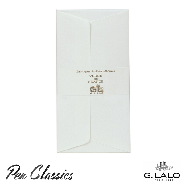 G. Lalo Verge de France 25 Pack DLE Envelopes – White