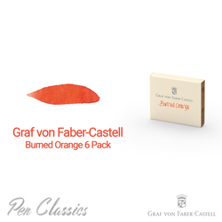 Graf von Faber-Castell Burned Orange 6 Cartridges Swab and Bottle
