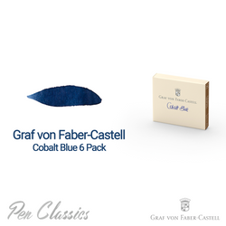 Graf von Faber-Castell Cobalt Blue 6 Cartridges Swab and Bottle