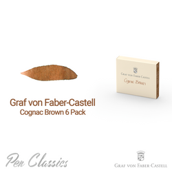 Graf von Faber-Castell Cognac Brown 6 Cartridges Swab