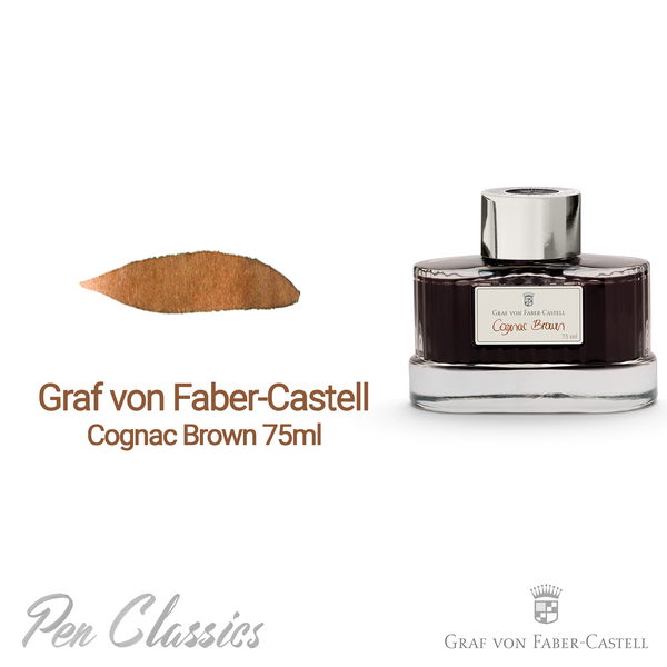Graf von Faber-Castell Cognac Brown 75ml Swab and Bottle