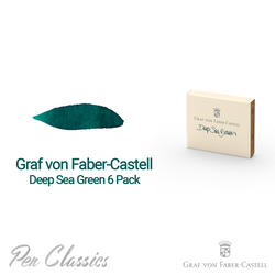 Graf von Faber-Castell Deep Sea Green 6 Cartridges Swab