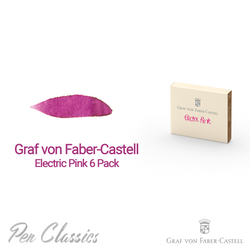 Graf von Faber-Castell Electric Pink 6 Cartridges Swab