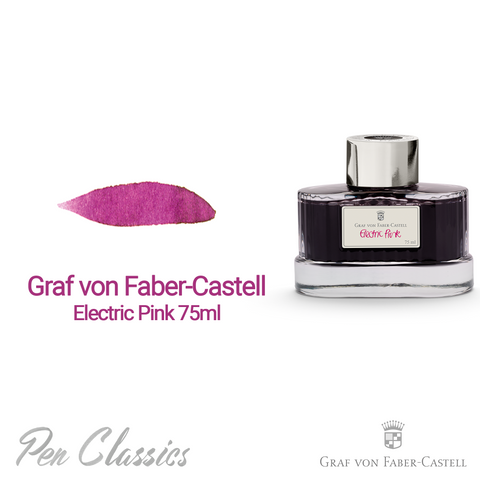 Graf von Faber-Castell Electric Pink 75ml Swab and Bottle