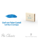 Graf von Faber-Castell Gulf Blue 6 Cartridges Swab and Bottle