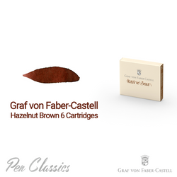 Graf von Faber-Castell Hazelnut Brown 6 Cartridges Swab and Bottle