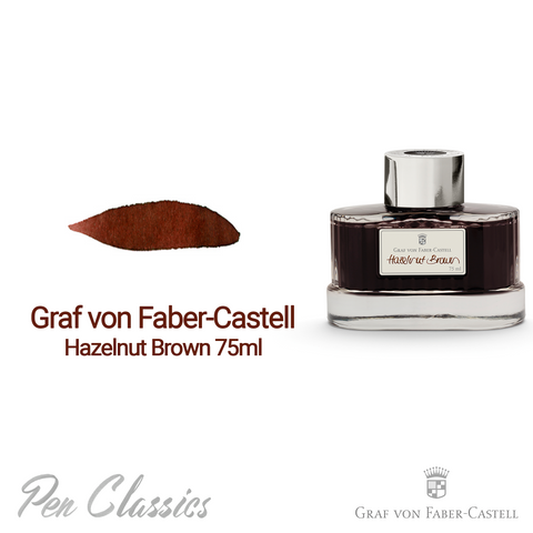 Graf von Faber-Castell Hazelnut Brown 75ml Swab and Bottle