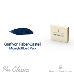 Graf von Faber-Castell Midnight Blue 6 Cartridges Swab