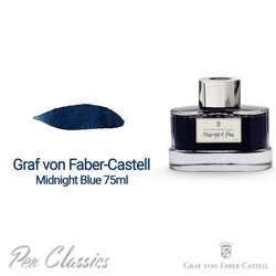 Graf von Faber-Castell Midnight Blue 75ml Swab and Bottle