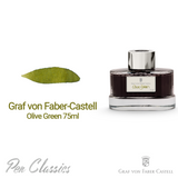 Graf von Faber-Castell Olive Green 75ml Swab and Bottle