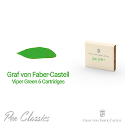 Graf von Faber-Castell Viper Green 6 Cartridges Swab and Bottle