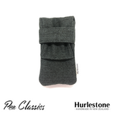 Hurlestone 2 Pen Pouch Charcoal Closed Front
