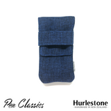 Hurlestone 2 Pen Pouch Navy Closed Front