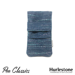 Hurlestone 2 Pen Pouch Seaweave Closed Front