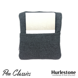 Hurlestone 4 Pen Pouch Charcoal Closed Back with Notebook