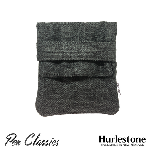 Hurlestone 4 Pen Pouch Charcoal Closed Front