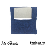 Hurlestone 4 Pen Pouch Navy Closed Back with Notebook