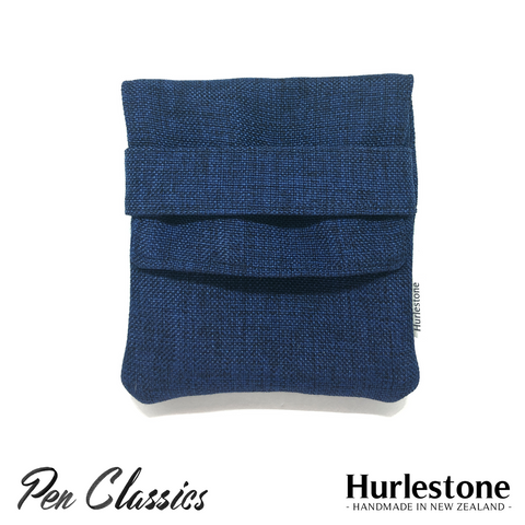 Hurlestone 4 Pen Pouch Navy Closed Front