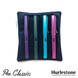 Hurlestone Large Velvet Pen Pillow Navy with Pens