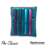 Hurlestone Large Velvet Pen Pillow Turquoise with Pens