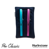 Hurlestone Small Velvet Pen Pillow Navy with Pens
