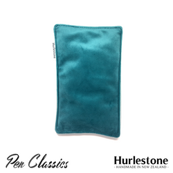 Hurlestone Small Velvet Pen Pillow Turquoise