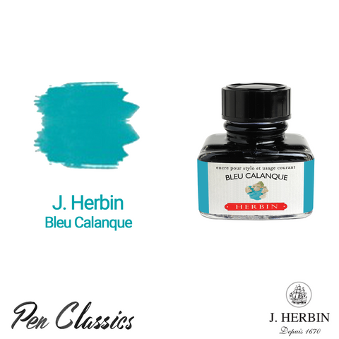 J. Herbin Bleu Calanque 30ml Bottle