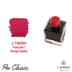 J. Herbin François I – Rouge Opéra 50ml Bottle and Swab
