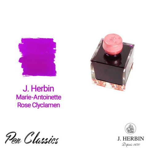 J. Herbin Marie-Antoinette – Rose Clyclamen 50ml Bottle and Swab