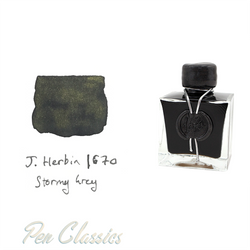 J. Herbin 1670 Stormy Grey | Grey Ink with Gold Flakes