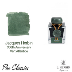 Jacques Herbin 350th Vert Atlantide Bottle and Swatch