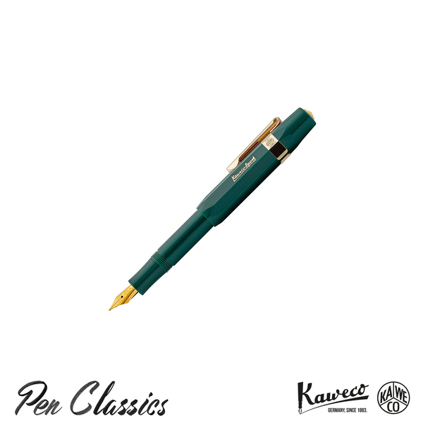 Kaweco Classic Sport Fountain Pen Green Posted With Clip