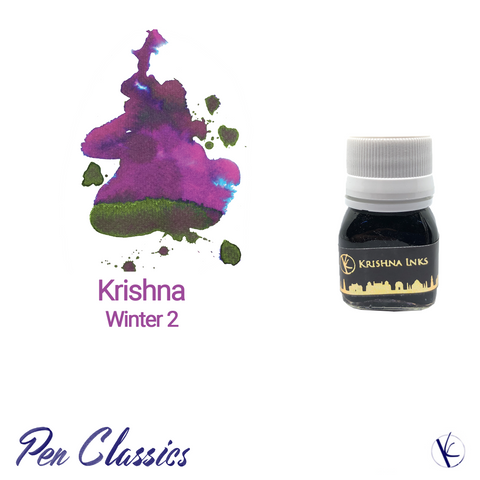 Krishna Inks Winter 2 Bottle and Swab