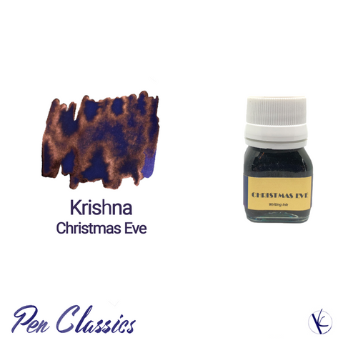 Krishna Christmas Eve Ink Blue with Copper Sheen