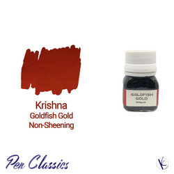 Krishna Goldfish Gold Non-Sheening Orange Fountain Pen Ink