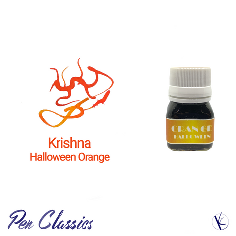 Krishna Inks Halloween Orange Limited Edition Bright Orange